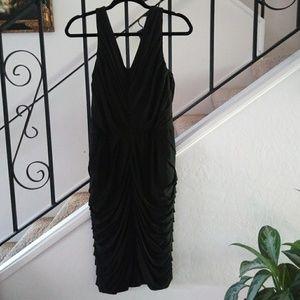 HALSTON HERITAGE Draped V-Neck Dress Size 10.